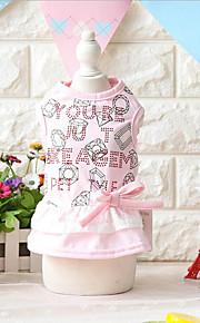 Собака Платья Одежда для собак На каждый день Мода Бант Желтый Розовый