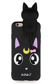 Caso para maçã iphone 7 7plus cartoon 3d padrão de gato fofo soft tpu material capa de capa para iphone 6s mais 6 mais 6s 6