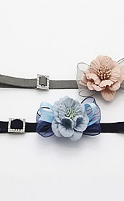 Collar Foldable Adjustable Flower/Floral Lace Fabric