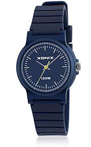 Mulheres Relógio Esportivo Digital Impermeável Borracha Banda Preta Azul