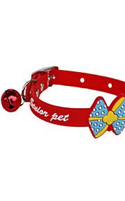 小さな犬のペットの犬の首輪とペットの襟の弓の鈴のシリコーン襟の襟の猫