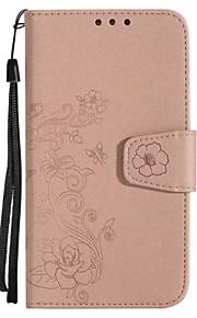 Hoesje voor huawei p10 p10 lite deksel kaarthouder portemonnee flip reliëfpatroon full body hoesje bloem glitter glans hard pu leer voor