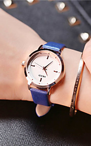 KEZZI בגדי ריקוד נשים לנשים שעוני אופנה שעון יד ייחודי Creative צפה שעונים יום יומיים קווארץ עור להקהמזל מגניב יום יומי יצירתי יוקרתי