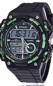 남성용 스포츠 시계 밀리터리 시계 스마트 시계 패션 시계 손목 시계 디지털 LED 달력 피트니스 트렉커 스톱워치 야광 실리콘 밴드 멋진 블랙