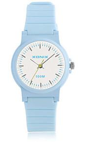 Mulheres Relógio Esportivo Digital Impermeável Borracha Banda Azul