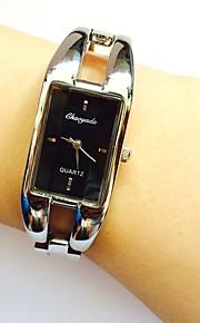 Mulheres Relógio de Pulso Quartzo Lega Banda Brilhante Bracelete Casual Prata