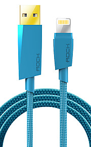Lightning Flätad Kabel Till iPhone iPad cm Nylon