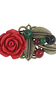 Dame Brocher Blomster Legering Blomstformet Smykker For Afslappet