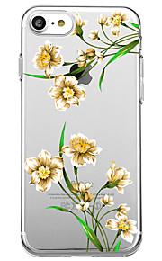 Voor iphone 7 plus 7 case cover transparante patroon achterkant hoesje bloem zachte tpu voor iphone 6s plus 6s 6 plus 6 5s 5 se