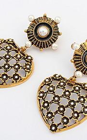 Dame Par Stangøreringe Dråbeøreringe Store øreringe Imiteret PerleEnkelt design Euro-Amerikansk Sexet Mode Vintage Personaliseret Sød