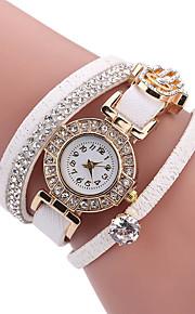בגדי ריקוד נשים לנשים שעוני אופנה שעון צמיד ייחודי Creative צפה שעונים יום יומיים קווארץ PU להקה מזל מגניב יום יומי יצירתי יוקרתי אלגנטי