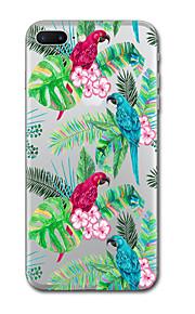 iphone 7 플러스 7 케이스 커버 투명 패턴 다시 커버 케이스 동물 꽃 소프트 tpu 아이폰 6s 플러스 6s 6 플러스 6 5s 5 se