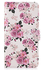 애플 아이폰 7 7 플러스 아이폰 6s 6 플러스 아이폰 5s 5 케이스 커버 꽃 패턴 pu 가죽 케이스