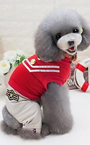 Other Комбинезоны Одежда для собак Милые На каждый день Морской Черный Красный