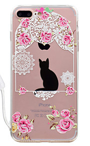 For Apple iPhone 7 7 Plus Case Cover Cat Pattern High Permeability Acrylic Backplane TPU Frame Painted Relief Phone Case For iPhone 6S 6 Plus