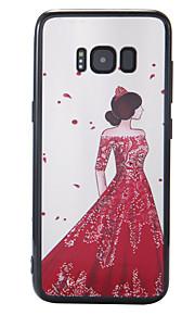 케이스 삼성 갤럭시 s8 s8 플러스 케이스 커버 새로운 광택 릴리프 배경 여신 pc 백 보드 tpu 국경 전화 케이스