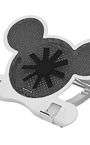 Soporte Ajustable Plegable otro ordenador portátil Macbook Tablet Portátil Todo-En-1 Soporte con ventilador de refrigeración Metal