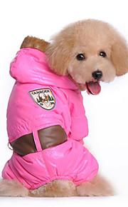 Hund Kapuzenshirts Overall Hundekleidung Lässig/Alltäglich Massiv Blau Rosa