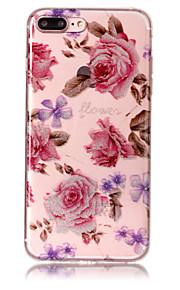 Case voor apple iphone 7 plus 7 telefoon hoesje tpu materiaal imd proces rozen patroon hd flash poeder telefoon hoesje 6s plus 6 plus 6s 6