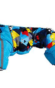 Perro Abrigos Ropa para Perro Mantiene abrigado Geométrico Morado Amarillo Azul Rosa