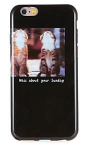 For eple iphone 7 pluss 7 tilfelle deksel mønster bakdeksel tilfelle katt ord / frase myk tpu i 6s pluss 6 pluss e 6s 6