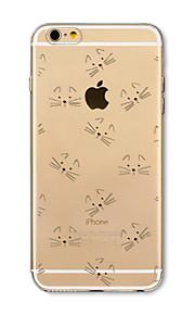 Hoesje voor iphone 7 plus 7 hoesje transparant patroon achterhoes hoesje cartoon kat zachte tpu voor iphone 6s plus 6 plus 6s 6 se 5s 5c 5
