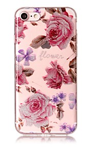 Case For IPhone 7 7Plus 6S 6 6Plus 6S Plus SE 5S 5 Case Cover Flower Pattern High Transparent TPU Material IMD Craft Chiffon Phone Case