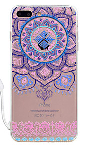 For Apple iPhone 7 7 Plus Case Cover Mandala Pattern High Permeability Acrylic Backplane TPU Frame Painted Relief Phone Case For iPhone 6S 6 Plus