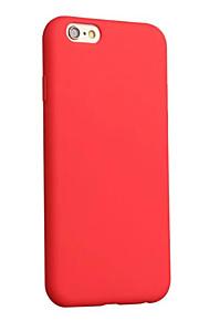 Caso per il iphone 7 più 7 copertura molle della copertura molle della copertura opaca tpu copertura di colore solido per il iphone 6 più