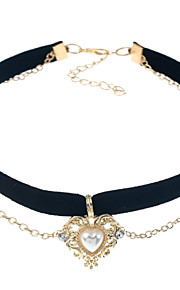 Women's Choker Necklaces Knit Alloy Love Heart Jewelry For Event/Party Dailywear Outdoor clothing