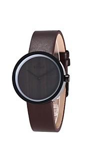 Mulheres Relógio de Moda Relógio Madeira Japanês Quartzo de madeira PU Banda Pendente Elegantes Preta
