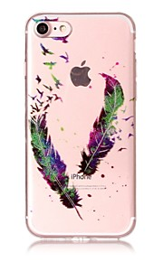 Case For IPhone 7 7Plus 6S 6 6Plus 6S Plus SE 5S 5 Case Cover Feathers Pattern High Transparent TPU Material IMD Craft Chiffon Phone Case