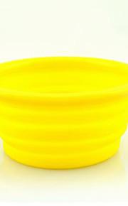 강아지 그릇&물병 애완동물 그릇 & 수유 휴대용 블랙 오렌지 옐로우