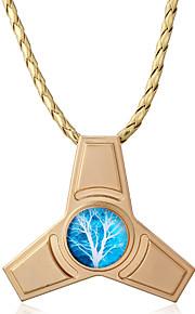 Dame Halskædevedhæng Opal Geometrisk form Trekantet Legering Hængende Statement-smykker Euro-Amerikansk Smykker Til Fest Afslappet