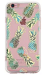 Caso per iphone 7 6 copertura posteriore ultra-sottile della copertura posteriore della copertura posteriore di frutta tpu 6 plus 6 6s più