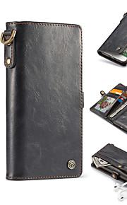 Caso per iphone 7 plus 7 lusso detachable 2-in-1 spaccato cassa in pelle di cuoio genuino 6 più 6