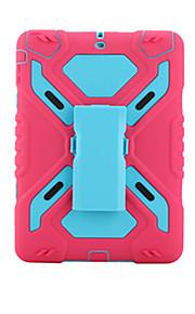 애플 ipad airshockproof 스탠드 전신 케이스 솔리드 컬러 하드 pc와 실리콘