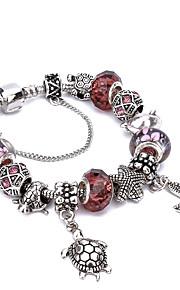 2017 New Women's  Charm Bracelet Strand Bracelet Friendship Beaded Fashion Crystal Silver Plated Ball Jewelry
