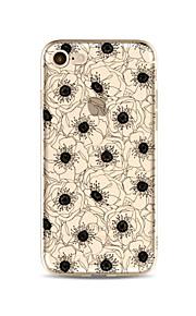 Hoesje voor iphone 7 plus 7 hoesje transparant patroon achterhoes hoesje bloem zacht tpu voor iphone 6s plus 6 plus 6s 6 se 5s 5c 5 4s 4