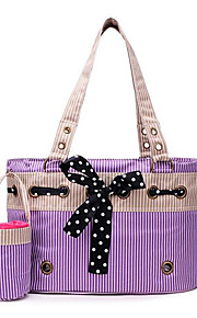 Kot Pies Przewoźnicy i plecaki turystyczne Zwierzęta domowe Torby Przenośny Oddychający Składany Naszywka Purple Różowy