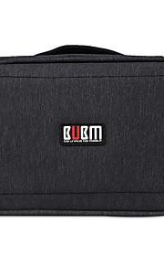 Bolsa para Adaptador de corriente Memoria USB Disco duro Batería Auriculares Ratón Color sólido Nilón Material