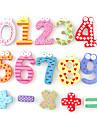 grappige math symbool houten koelkastmagneten educatief speelgoed (12-pack)