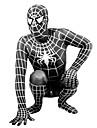 Zentai Couleur Pleine Lycra Inspire par Spiderman