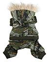 militaire manteau de style camouflage pour chiens et chats (XS-XXL)