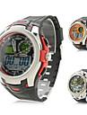 silicone dos homens analógico-digital relógio de pulso duplo movimentos (cores sortidas)