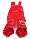 My Honey Style Trouser Slacks for Dogs (XS-XXL, Red)