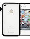 TPU e policarbonato no vidro traseiro para caso e iPhone 4 e 4S (cores sortidas)