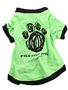 Dog Shirt / T-Shirt Green Dog Clothes Spring/Fall Animal