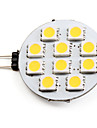 1.5W G4 LED Spotlight 10 SMD 5050 90 lm Warm White DC 12 V