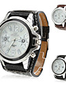 unisex s pu analog kvarts haandleddet watch (assorterte farger)